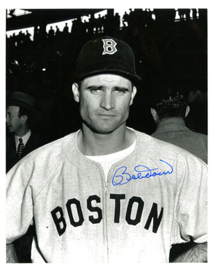 BOBBY DOERR (2nd BASEMAN) - AUTOGRAPHED PHOTO RED SOX
