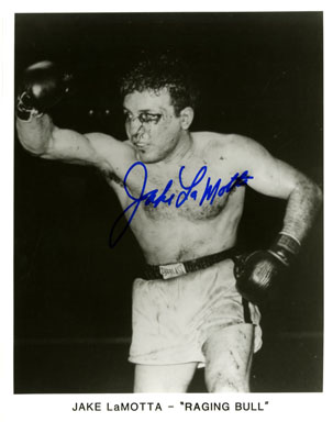 JAKE LaMOTTA - AUTOGRAPHED PHOTO  RAGING BULL BOXING