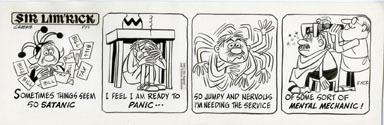 ED NOFZIGER -SIR LIM'RICK DAILY ART 05-12-67 PANIC