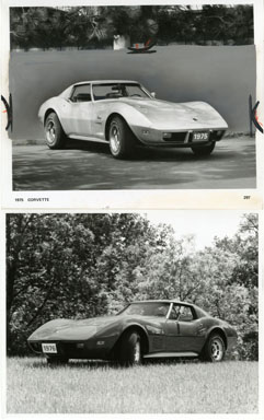 NEWS PHOTO: CHEVROLET CORVETTE (2 PHOTOS) 1975