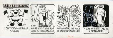 ED NOFZIGER -SIR LIM'RICK DAILY ART 05-23-67 SINGER