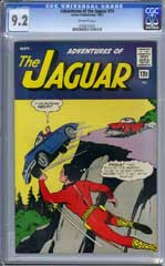 ADVENTURES OF THE JAGUAR #14 (1963) CGC NM- 9.2 OW Pgs