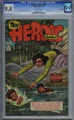 HEROIC COMICS #90 (1954) CGC NM 9.4 WHITE Pgs HIGHEST!