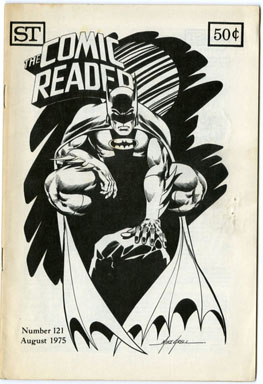 COMIC READER #121 (1975) FANZINE MIKE GRELL BATMAN CVR