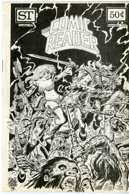 COMIC READER #122 (1975) FANZINE FRANK THORNE COVER