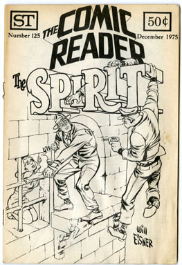 COMIC READER #125 (1975) FANZINE WILL EISNER SPIRIT CVR