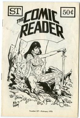 COMIC READER #127 (1976) FANZINE VOSBURG STARFIRE COVER