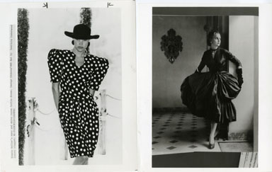 NEWS PHOTO: FASHION / DRESSES (1986) RONNIE HELLER
