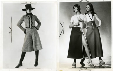 NEWS PHOTO: FASHION / GAUCHOS / SKIRTS (1970)