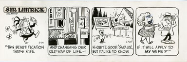 ED NOFZIGER -SIR LIM'RICK DAILY ART 05-26-67 BEAUTIFUL