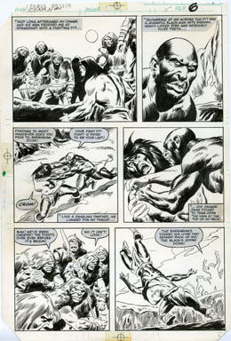JOHN BUSCEMA - CONAN MOVIE #1 PG 5 ORIG ART FIGHT SCENE