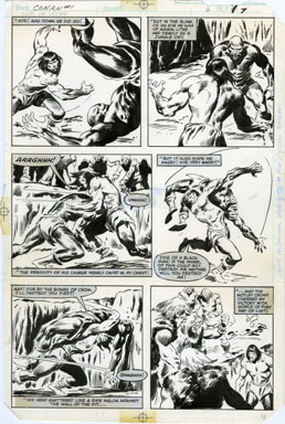 JOHN BUSCEMA - CONAN MOVIE #1 PG 6 ORIG ART FIGHT SCENE