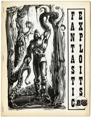 FANTASTIC EXPLOITS #15 (1970) FANZINE Frazetta Reprint