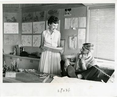 NEWS PHOTO: TED & HELEN GEISEL (DR. SEUSS) (1961)