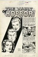 JOHNNY CRAIG / JACK DAVIS - HAUNT OF FEAR #10 COMPLETE 7-PAGE STORY ART
