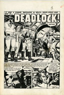 "WALLY WOOD - WEIRD FANTASY #17 COMPLETE 6-PAGE STORY ORIG ART  ""DEADLOCK!"""