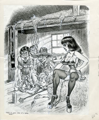 BILL WARD - SEX TO SEXTY INSIDE BACK COVER ORIG ART. $899.95