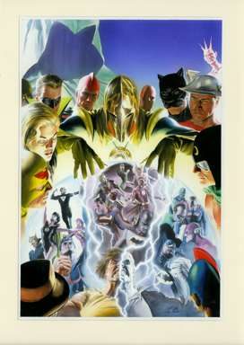 ALEX ROSS - CRISIS ON MULTIPLE EARTHS V1 COVER ORIG ART