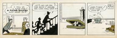 BOB MONTANA - ARCHIE DAILY ORIG ART 10-10-68 FLY SAUCER