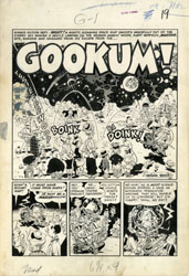 WALLY WOOD - MAD #2 COMPLETE 6-PG STORY ORIG ART GOOKUM!