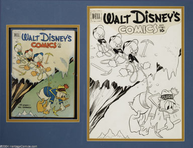 CARL BUETTNER -DISNEY C&S #128 DONALD DUCK CVR ART 1951