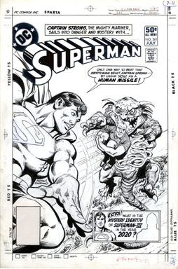 ROSS ANDRU/GIORDANO - SUPERMAN #361 COVER ORIG ART 1981