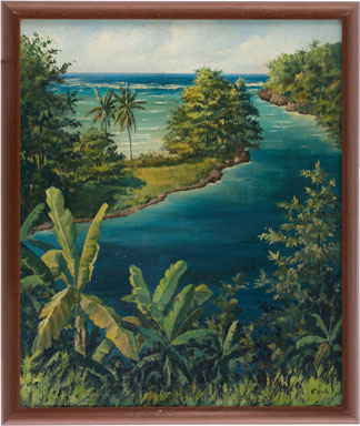 WILLIAM MELVILLE - TROPICAL PARADISE PAINTING ORIG ART
