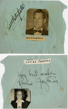 BOB WATERFIELD / LOUISE FAZENDA - SIGNED AUTOGRAPH BOOK