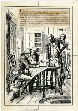 FRED RAY - VALLEY FORGE PAGE 10 ORIG ART GEORGE WASHINGTON