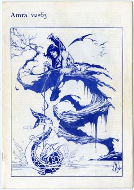 AMRA V2 #63 FANZINE (1975) ROY KRENKEL / ALEX NINO CVR