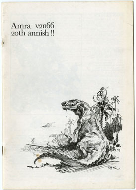 AMRA V2 #66 FANZINE (1976) ROY KRENKEL / JEFF JONES