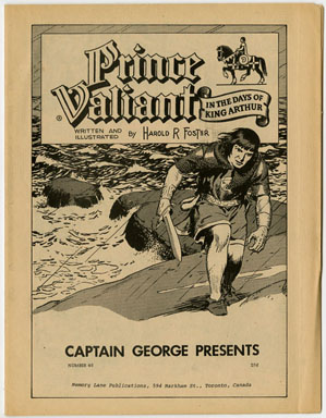 CAPT GEORGE PRESENTS #46 (1971) FANZINE PRINCE VALIANT