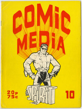 COMIC MEDIA #10 (1973) FANZINE  SPIRIT / MODESTY BLAISE