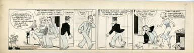 CHIC YOUNG - BLONDIE DAILY STRIP ORIG ART 3-12-31 FRESH