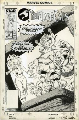 JOSE DELBO / AL WILLIAMSON -THUNDERCATS #19 COVER ART 1987