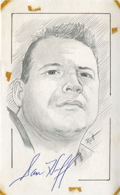 SAM HUFF - SIGNED PENCIL SKETCH ORIGINAL ART JOHN RAITT