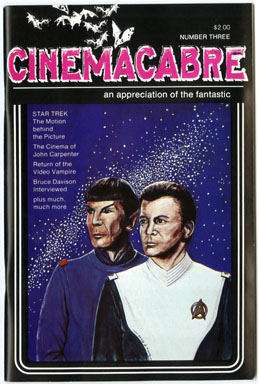 CINEMACABRE #3 (1980) FANZINE STAR TREK JOHN CARPENTER