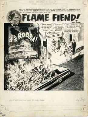 GRAY MORROW - EERIE #2 TITLE SPLASH PAGE ORIG ART 1966