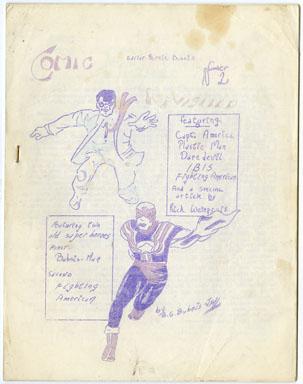 COMIC HEROES REVISITED #2 (1962) FANZINE RICK WEINGROFF