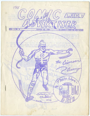 COMIC WEEKLY ADVERTISER #2 (1965) RARE FANZINE