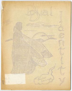 DUAL IDENTITY #1 (1964) FANZINE - RONN FOSS ALLY TALLY