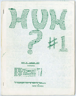 HUH? #1 (1967) FANZINE - LARRY HERNDON / FAN FICTION