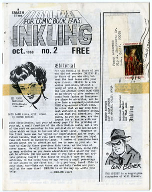 INKLING #2 (1968) FANZINE - FORRY ACKERMAN COPY Mark Evanier