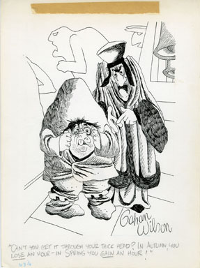 GAHAN WILSON - QUASIMODO / HUNCHBACK CARTOON ORIGINAL ART