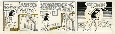 BOB NAYLOR - BIG SISTER DAILY STRIP ORIG ART 4-17-65