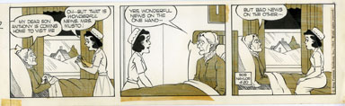 BOB NAYLOR - BIG SISTER DAILY STRIP ORIG ART 4-20-65