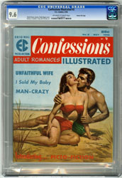 CONFESSIONS ILLUSTRATED #2 (1956) CGC NM+ 9.6 OWW GAINES FILE COPY