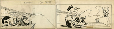CLIFFORD McBRIDE - NAPOLEON DAILY ART c.1933 FISHING