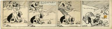 CLIFFORD McBRIDE - NAPOLEON DAILY ART c.1933 FROG JUMP