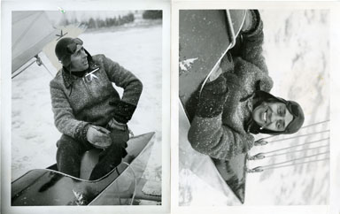 NEWS PHOTO: DICK GRAF - CHAMPION ICE BOAT RACER (1940)